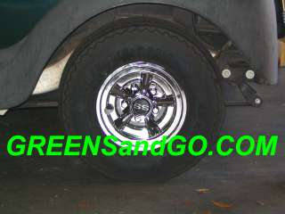 This auction is for set of 4 Cragar SS styled Golf Cart wheel covers