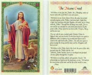 The Niceen Creed Holy Card We Believe In One God HC82 Catholic Prayer