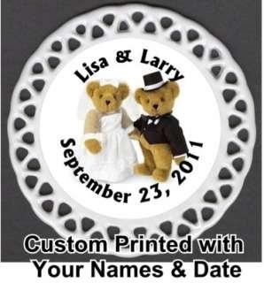 Wedding Bears Custom Personalized Porcelain Christmas Ornament