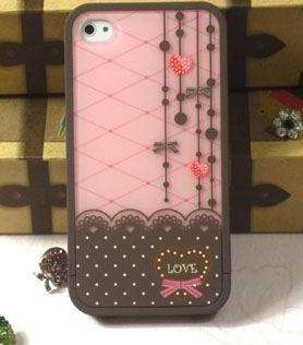 new fashion cuter lovely hard cover skin case for iphone 4 4s retail