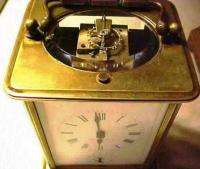 Antique Tiffany & Co. Repeating Brass Carriage Clock With 2 Cases, 2
