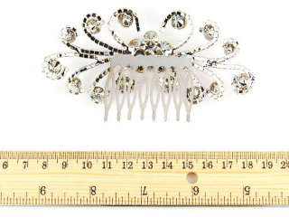 Elegant Daisy Flower Burst Clear Bridal Crystal Rhinestone Head Piece