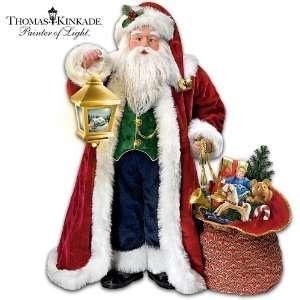 Thomas Kinkade Traditional Musical Santa Claus Christmas