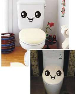 Fashion Smile Toilet Sticker Wall Sticker Decor Decal Vinyl Home Decor