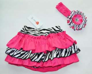 Girl Baby Clothing Ruffle Pants+Headband S0 4Y New Bloomers Skirt Free