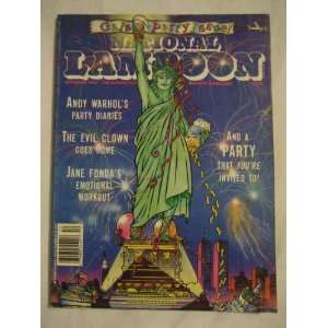 National Lampoon Dec. 1989 Andy Warhols Party Diaries