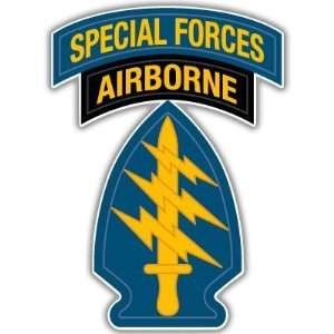 US ARMY Special Forces airborne bumper sticker 3 x 5