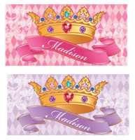 Princess Crown Peel & Stick Die Cut Wall Sticker Decal~Color Choice