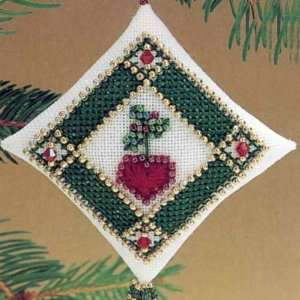 Ruby Heart   Beaded Cross Stitch Kit MHTD9 Arts, Crafts