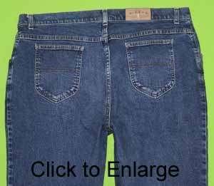 Riders Lee sz 20W Stretch Womens Blue Jeans Denim Pants IC3