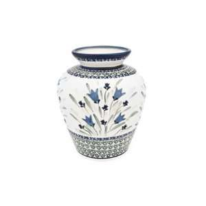 Polish Pottery Blue Tulip Medium Vase  Home & Kitchen