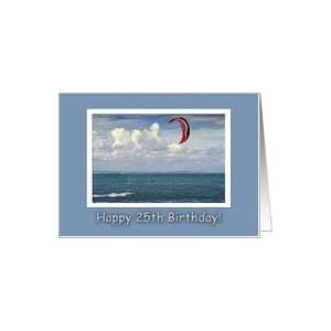 Kite surfing   Happy 25th Birthday Card: Toys & Games