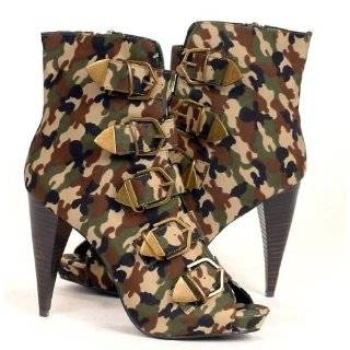Womens Ankle High US ARMY CAMOUFLAGE Dress Boots Explore