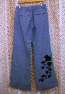 ELEVENSES Anthropologie Womens Brown Wool Tweed Embellished Velvet