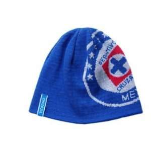Beanie Cruz Azul Mexico Futbol   Cuffless Blue Sports