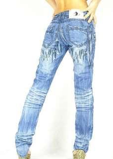 VVW Italian Designer Womens Jeans Denim Pants Low Rise Sexy W28 687