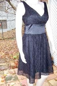 NINE WEST 8 DRESS REHEARSAL BLACK LACE/SILK COCKTAIL DRESS 8 NWT $