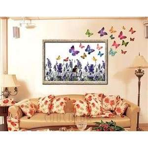 DIY Home Decor Alluring PVC Butterfly Wall Decal