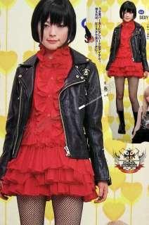 Gothic Punk LOLITA EGL COS MANA Tux Ruff Red NANA DRESS