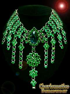 Emerald Green Swarovski Drag Queen DIVA GLAM Necklace