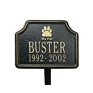 Dog Paw Print Memorial Marker   BRONZE/GOLD   Improvements