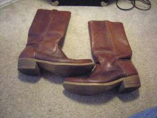 MENS LEATHER WESTERN COWBOY BOOTS 8 1/2 D VERY NICE