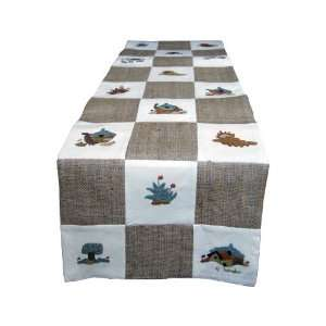 Handmade Decorative Table Runner in Checkers Design