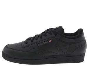 REEBOK CLUB C Classic Black Mens Reebok Black Leather Shoe #6 22793