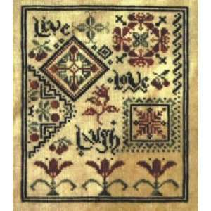 Live Laugh Love (cross stitch) Arts, Crafts & Sewing