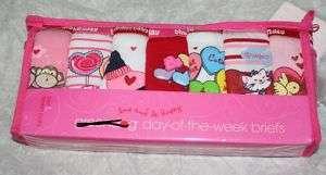 Girls Greendog 7 Days Week briefs 7 pk NEW NIP S M L