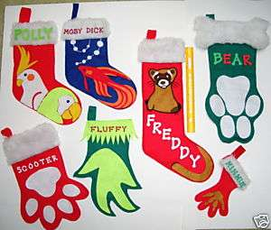 WHOLESALE 10 MXD CHRISTMAS STOCKINGS FOR PETS DOGS CATS