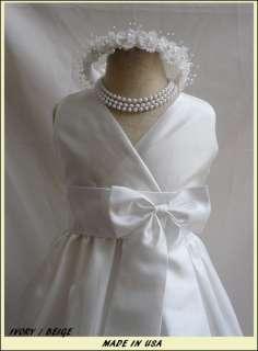 NEW IVORY BRIDESMAID FLOWER GIRL DAVIDS RECITAL DRESS