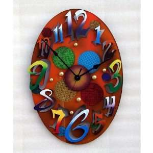 Small Modern Oval Gold Wall Clock Home & Kitchen