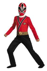BOYS POWER RANGERS RED SAMURAI COSTUME DRESS DG38247 039897382470