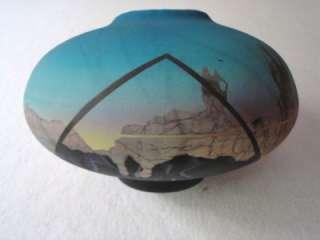 High Fired Salt Glazed Air Brushed Acrylic Raku Pottery Vase