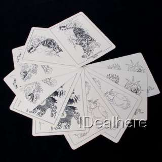 10 x Tattoo Practice Skins Tiger Dragon Skull Fish