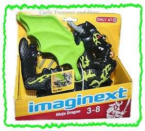 Price Imaginext Samurai Castle NINJA DRAGON Black Green NEW
