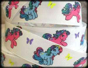 Pony RIBBON. 1 Grosgrain. Scrapbooking/Hair Bows. Horse. Rainbow Dash