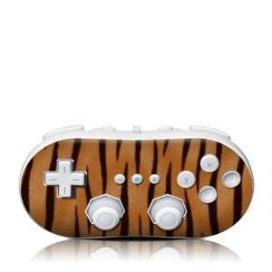 Tiger Stripes Design Skin Decal Sticker for the Wii