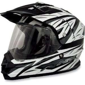 AFX FX 39 Dual Sport Motorcycle Helmet Strike Black Multi
