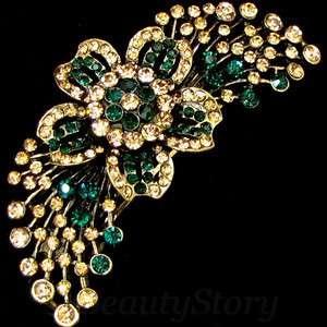 ADDL Item  1 pc antiqued rhinestone crystal flower hair