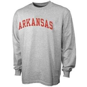 NCAA Arkansas Razorbacks Ash Arch Logo Long Sleeve T shirt