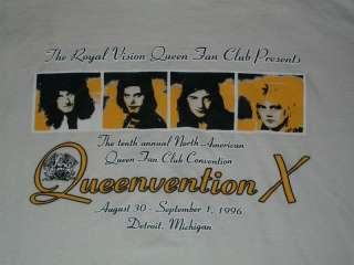 VTG 1996 Queen Queenvention T Shirt Freddie Mercury M/L