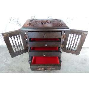Cabinets with Drawers Teakwood Teak Wood Wooden Box Chest for Jewelry