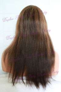 100% Indian Hair Full Lace Wig Straight Multi Color #6/14/25/2