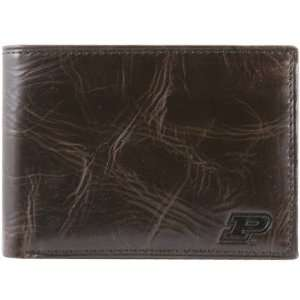 Fossil Purdue Boilermakers Brown Leather Traveler Wallet