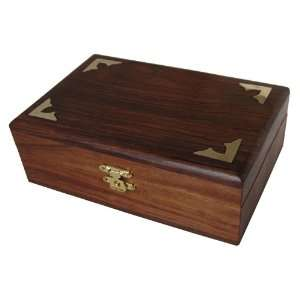 Wood Jewelry Box Brass Inlay Work Handmade Gift Ideas