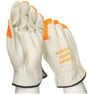 West Chester 990KOT Leather Glove, Shirred Elastic Wrist Cuff, 10.25