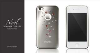 4S BLING SILVER COVER CASE SWAROVSKI CRYSTAL ELEMENT PROTECTOR