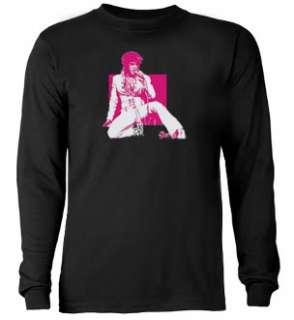 Elvis Presley Pink Design Tee Shirt Black T shirt